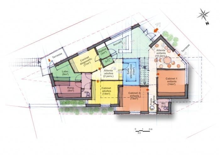 Cabinet médical / aménagement parking : plan rdc copie.jpg