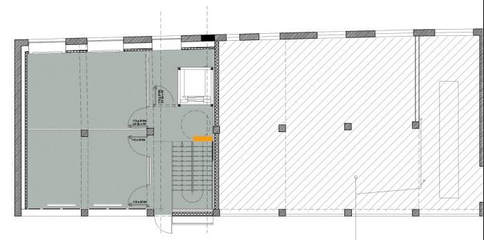 Rénovation d'un Centre technique et d'un Centre médico-social : niveau rue