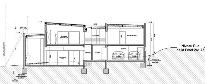 Construction d'une maison individuelle à RICHELING (57) : PC3