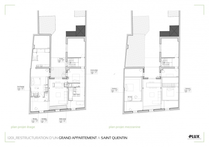 Rénovation et extension d'un grand appartement à SAINT QUENTIN (02100) : architecte lille plux aménagement intérieur loft studio appartement loft maison design décoration