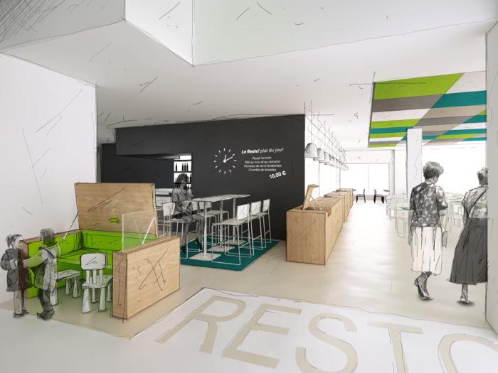 Réhabilitation d'un Novotel en Ibis Styles : Restaurant