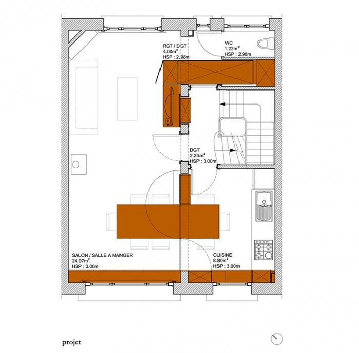 MUR TIROIR, restructuration et aménagement intérieur d'une maison individuelle à Marcq en Baroeul : plan_projet.jpg