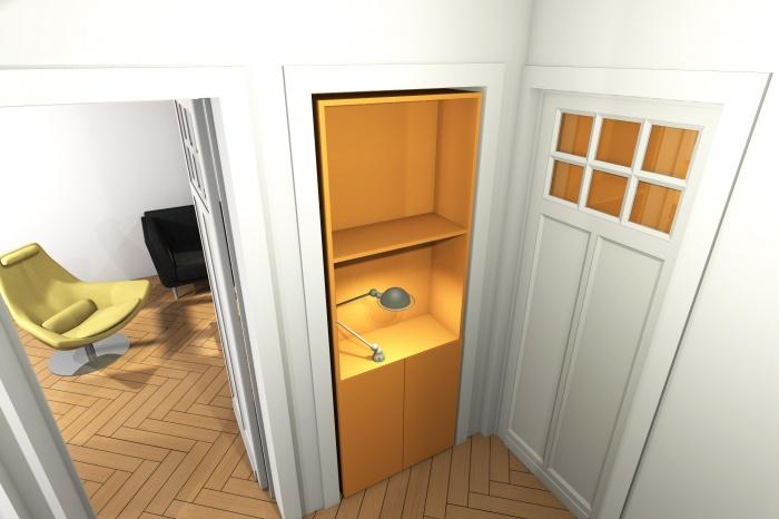 MUR TIROIR, restructuration et aménagement intérieur d'une maison individuelle à Marcq en Baroeul : scenario 1 vue 2.jpg