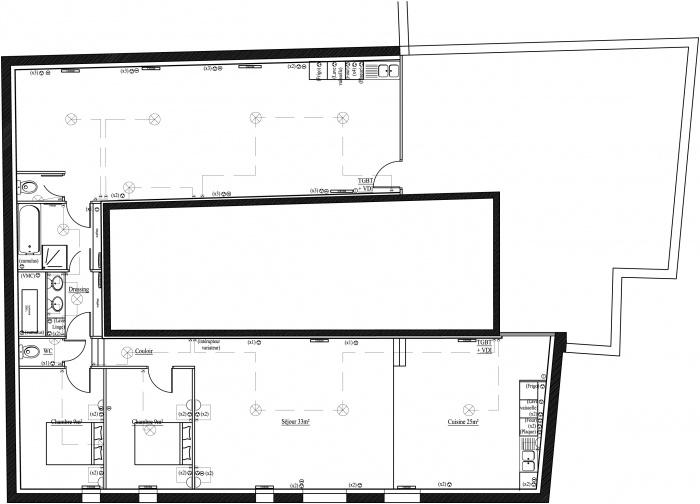 2 Appartements : Plan