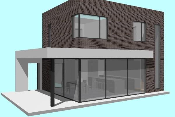 Extension contemporaine d'une habitation
