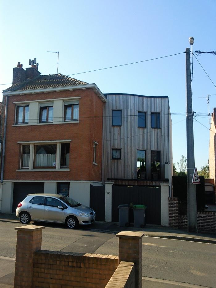 Extension d'une maison individuelle : Façade rue