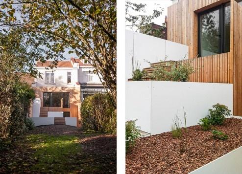 FENÊTRE SUR JARDIN, Réhabilitation et extension d'une maison de ville, aménagement d'une terrasse et des espaces extérieurs à Marcq en Baroeul : DIENTRE_fenetre_sur_jardin_façade01-494x356.jpg