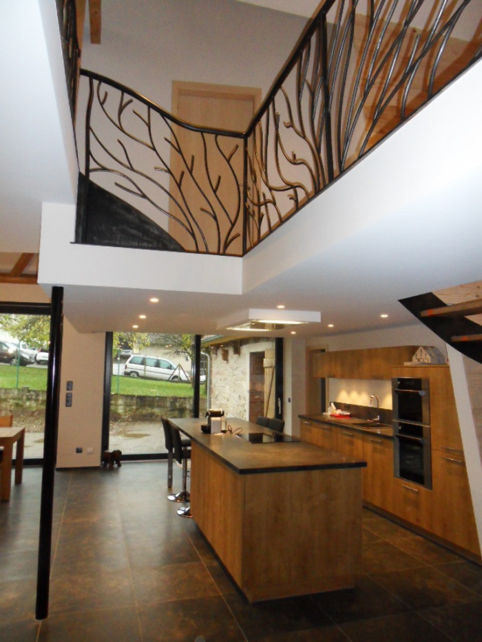 Transformation d'une grange en habitation : Espace cuisine
