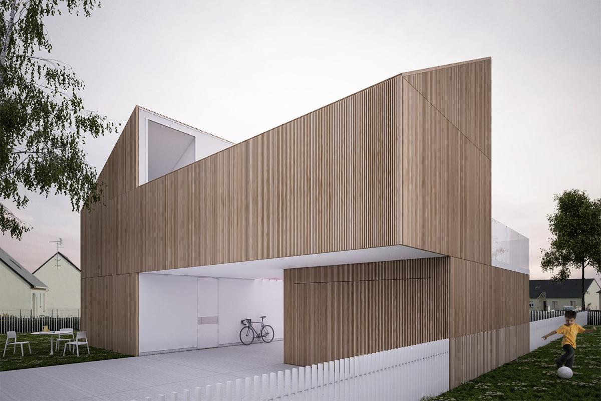 Maison SPLIT : Façade Nord
